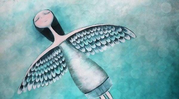 sevilmeye ihtiyacı olan kadın melek uçuyor