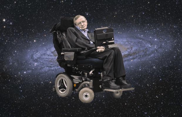 Stephen Hawking'in tekerlekli sandalyesi gökyüzünde