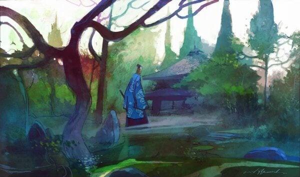 ağaç ev ve adam