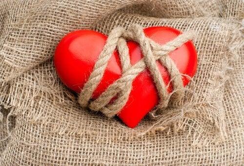iplerle bağlı kalp