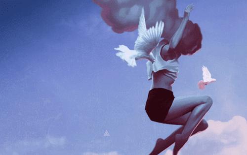 kadını uçuran beyaz kuşlar