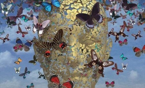kelebekler örülü kafa