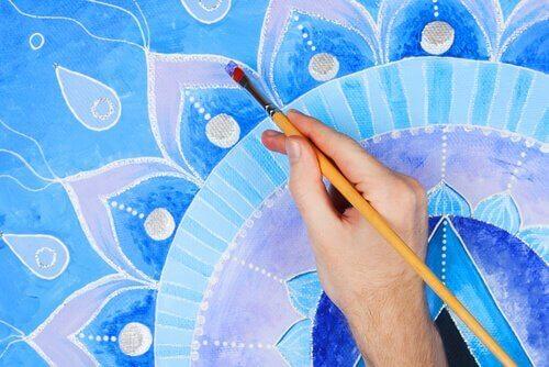 mavi yoğunluklu boyama