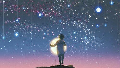 gece parlak ışıklar