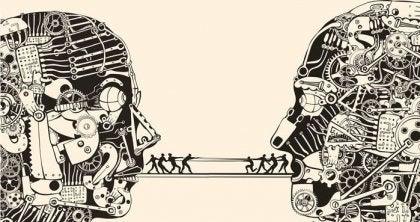 iletişimi temsil eden çizim