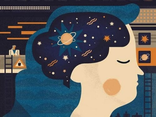 kafasında uzay olan kadın