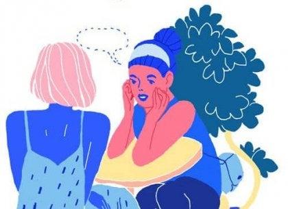 sohbet eden iki kadın