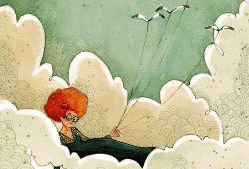 uçurtma ve bulutlar