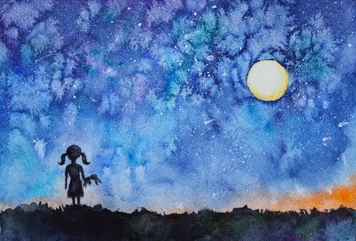 Geceleyin Gökyüzüne Bakıp Kendi Işığını Keşfeden Kız