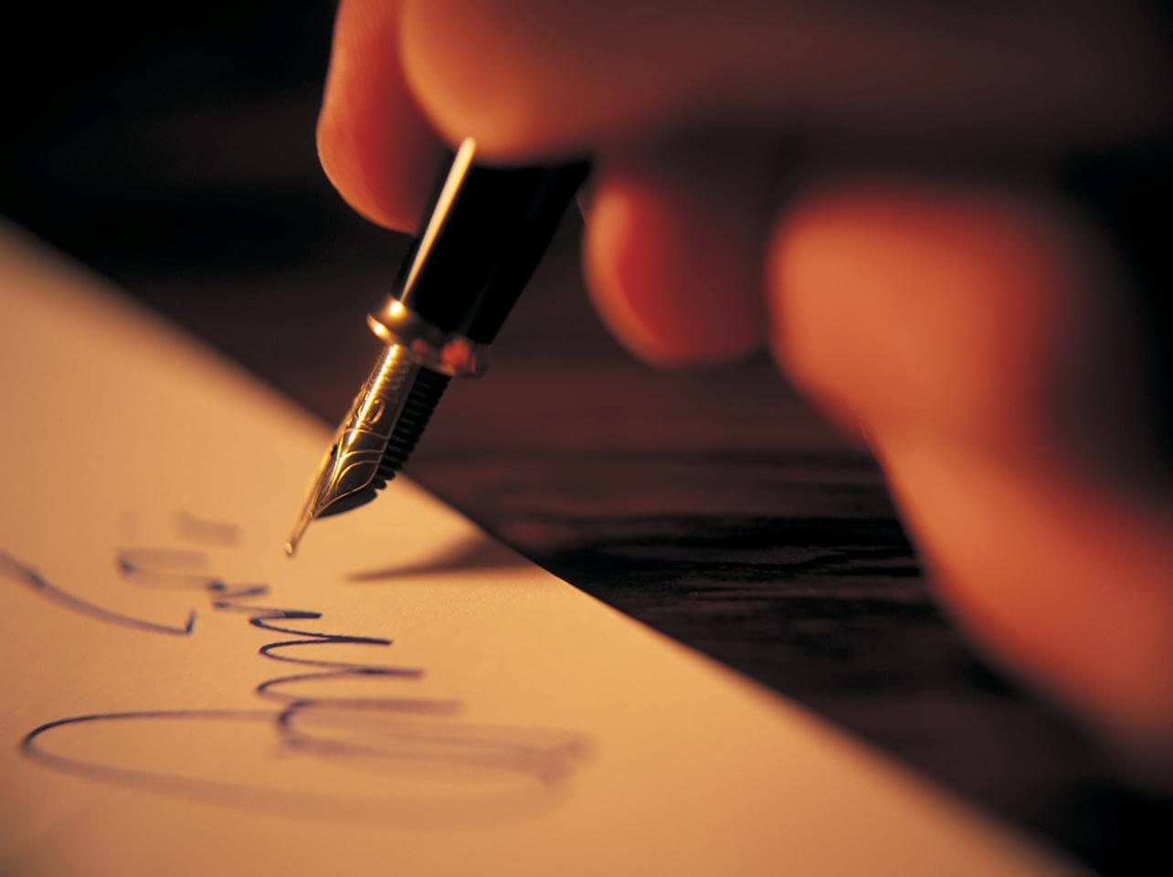 hokkali kalem ile yazmak