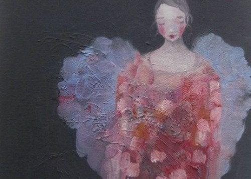 yağlı boya kadın tablosu