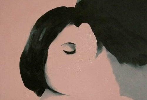 yarım kadın yüzü tablo