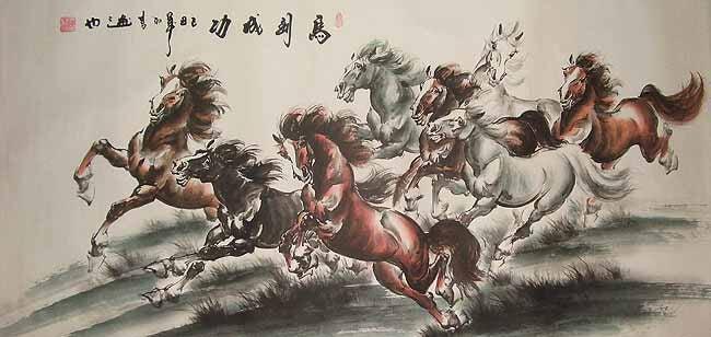 Çin atları resmi
