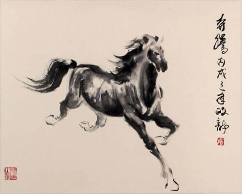 Çinli bir at çizimi