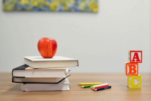 kitaplar ve elma