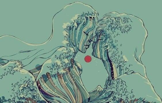 Bir çift oluşturan dalgalar