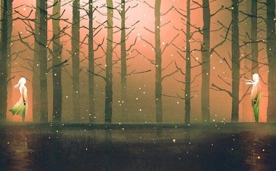 Ormandaki bir çift