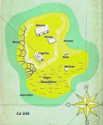 morel adası kuş bakışı