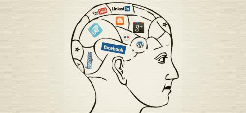 sosyal medyayla dolu bir beyin
