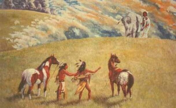 kızılderililer ve atlar
