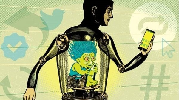 bir insanı içten yöneten robot