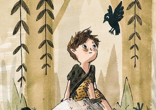 çocuk ve kuş