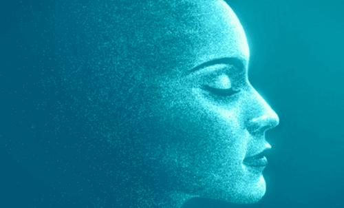 mavi kadın