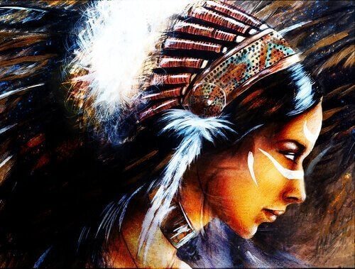yerli amerikalı bir kadın