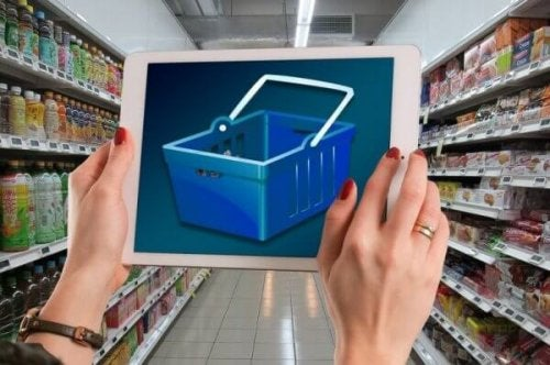 tablette alışveriş sepeti