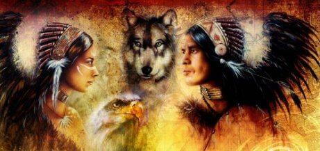 amerika yerlileri ve kurt