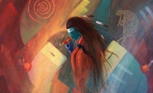 amerika yerlisi resmi