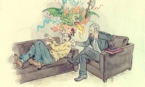 terapide ejder gören adam