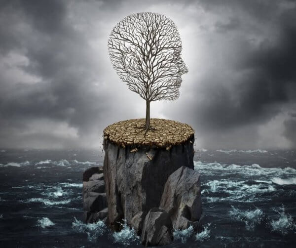 fırtınada bir ağaç