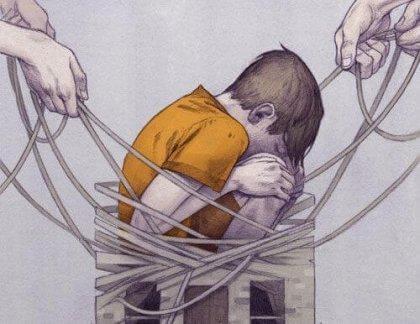 fiziksel şiddet gören çocuk