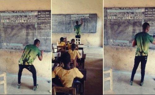 Tutum ve İlham: Ganalı Öğretmen Öğrencilerine Kara Tahtada Bilişim Teknolojileri Öğretiyor