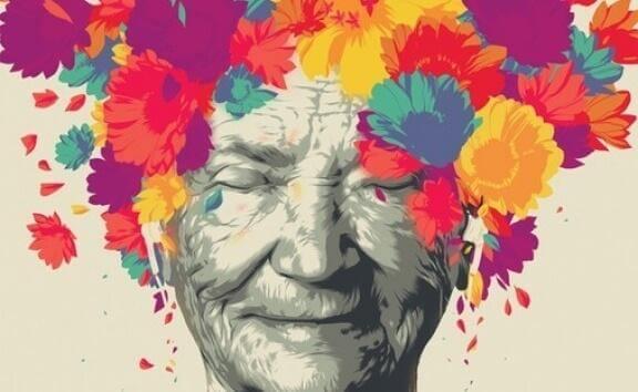 kadının kafası çok renkli