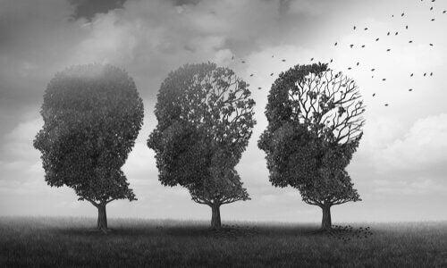 insan silüetinde ağaçlar