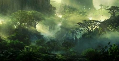 japon masalı ve orman ruhları