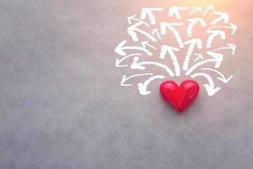 kalpten birçok ok çıkıyor