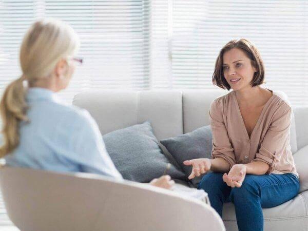 terapideki kadın