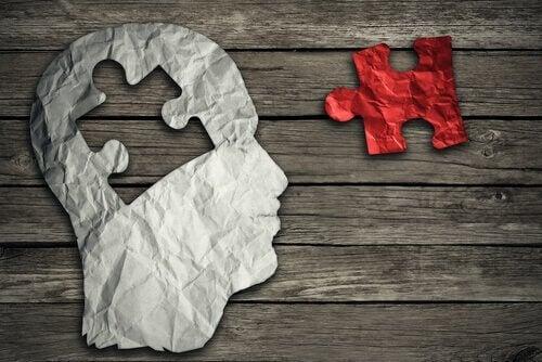 kağıttan beyin ve yapboz