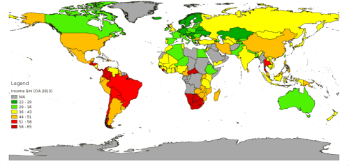 eşitsizlik haritası