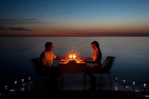 romantik bir yemek