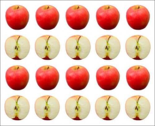 yenmiş ve tam elmalar