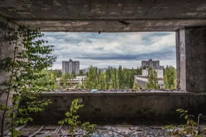 Çernobil yıkıntıları