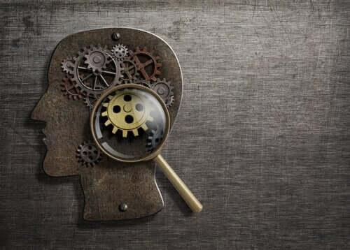 içinde saat çarkları olan insan beyni