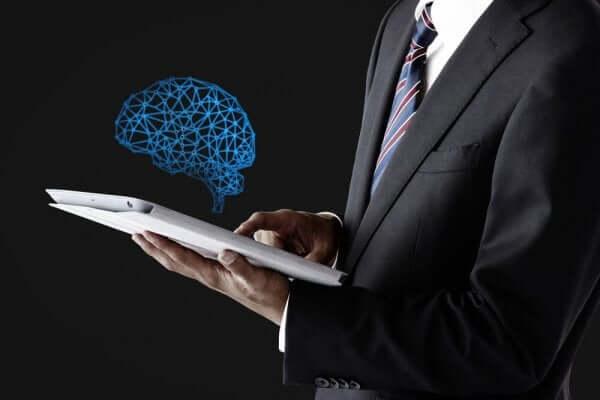 tabletten çıkan beyin ilüstrasyonu