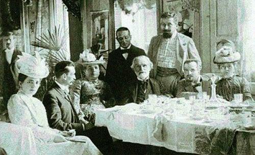 Giuseppe Verdi bir akşam yemeğinde.