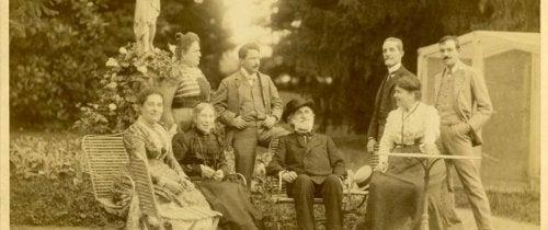 Giuseppe Verdi ve ailesinin bir fotoğrafı.