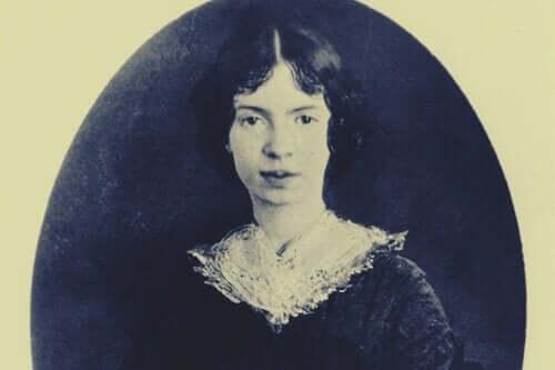 Emily Dickinson'ın gençliğinden bir portre.